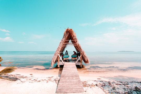 Massage hut on private island