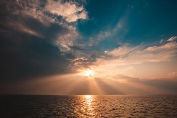 Exploding Ocean Sunset