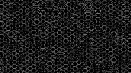 Abstract background pattern with a variety of hexagons.