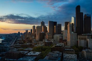 Seattle Washington Cityscape Sunset