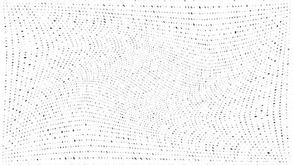 Abstract dots background. Monochrome grunge dirt texture. Halftone Pop Art comic pattern. Geometric small dots, twisted vector pattern. Template for presentation flyer, business cards, report fabric