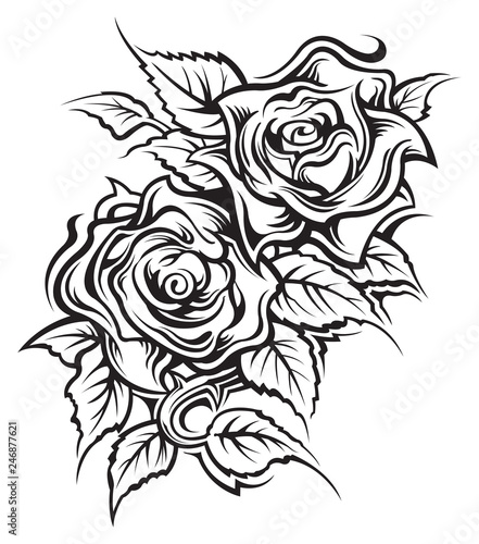 Rose Tattoo Design Stock Image And Royalty Free Vector