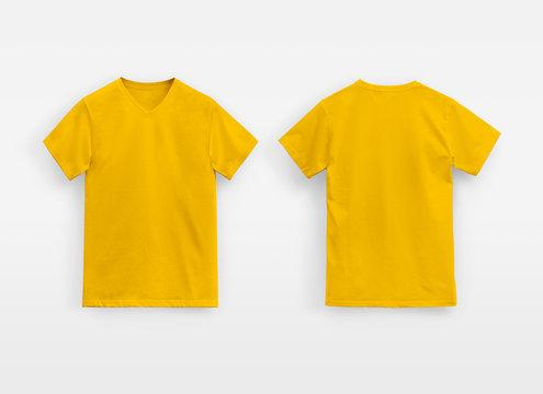 Juice Basic V-Neck T-Shirt Man unbranded yellow