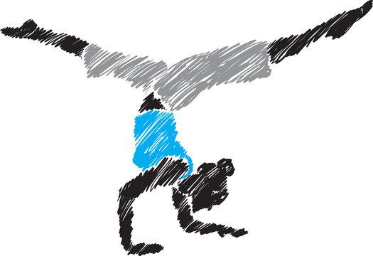 woman yoga posture 2 illustration