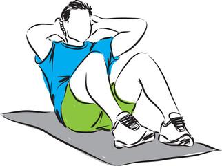 man workout illustration