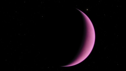 Exoplanet 3D illustration purple violet (Elements of this image furnished by NASA)