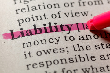 Wall Mural - definition of liability