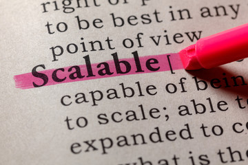 Wall Mural - definition of scalable