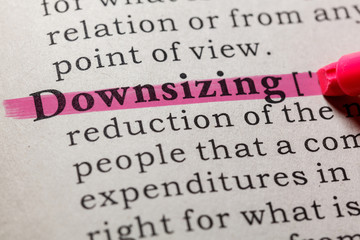 Wall Mural - definition of downsizing