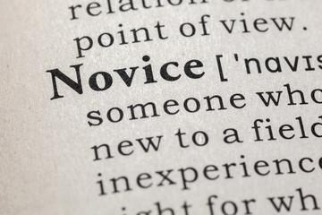 definition of novice