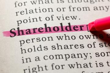 Wall Mural - definition of shareholder