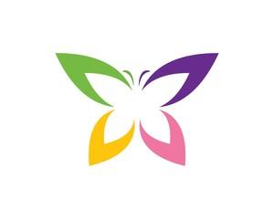 butterfly logo vector template design