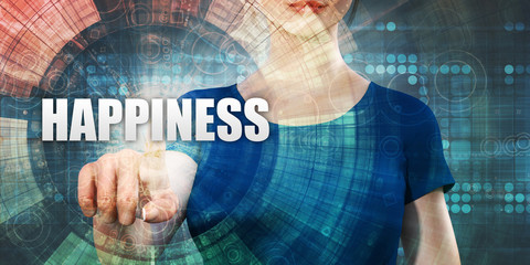 Woman Accessing Happiness
