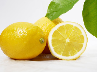 Lemon fresh with leaf for fruit image