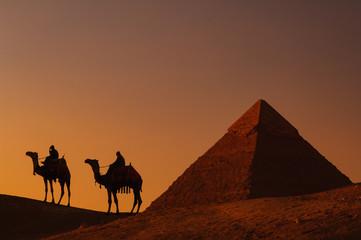 ピラミッドと駱駝