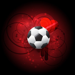 Soccer red vector background