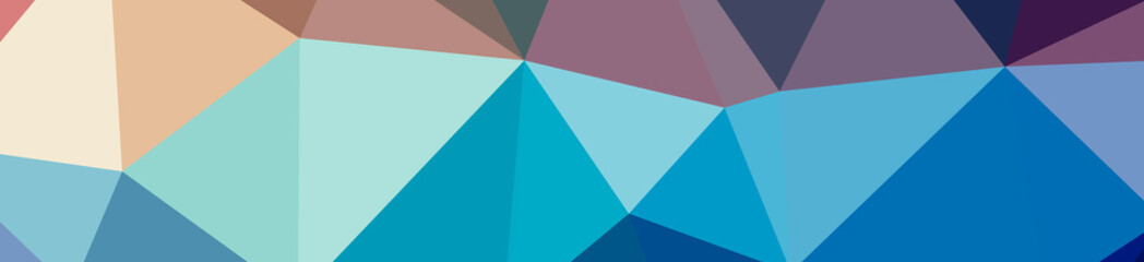 Illustration of abstract Blue And Purple banner low poly background. Beautiful polygon design pattern.