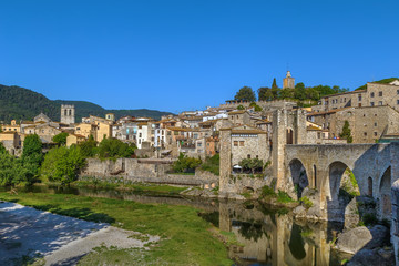 View of Besalu, Spain