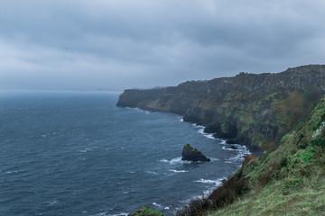 Cliffs on the coast of Northern Ireland