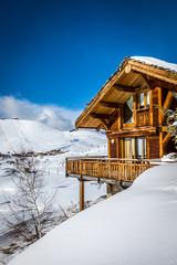 Foto auf Leinwand Gebirge Chalets de montagne