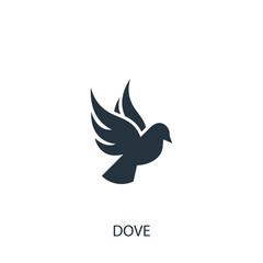 Dove icon. Simple love illustration element.