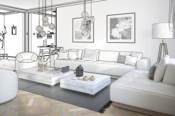 Raumgestaltung: Sitzgarnitur (Planung)