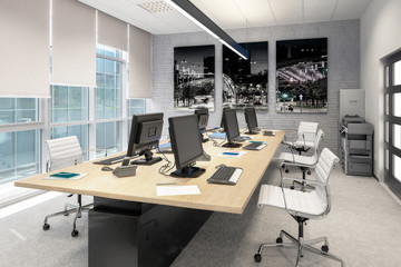 Common Computer Workplace Design - 3d visualization