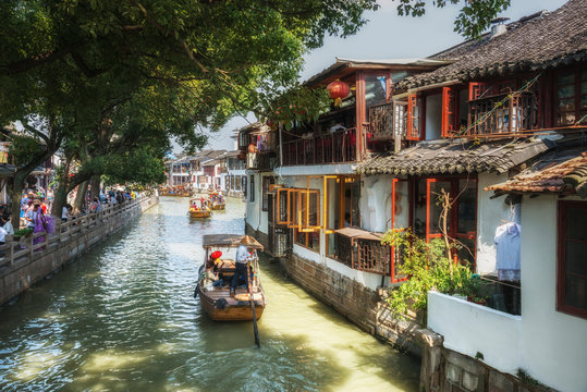 Shanghai Zhujiajiao Ancient water Town. China