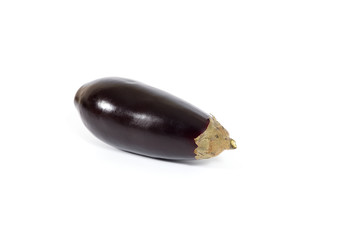 Fresh and healthy eggplant on white background