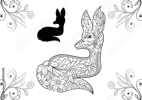 Coloring pages for adults. Manual work isolated, accurate ...