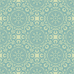 Seamless vector floral wallpaper pattern. Floral ornament on background.