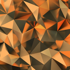 golden polygonal background