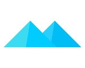 mountain logo flat