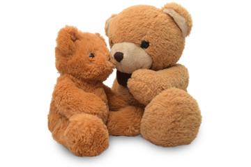 Teddy Bear lift , teddy bear isolated on white background