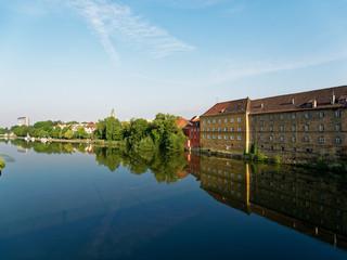 Stadtansicht Schweinfurt am Main, Unterfranken, Bayern, Deutschland