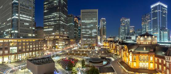 東京駅 夜景 パノラマ