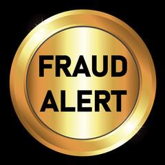 Button-Gold Fraud Alert Button