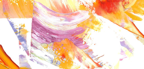 Colorful abstract painting background. Isolated texture of oil paint. High detail. Can be used for web design, art print, etc.