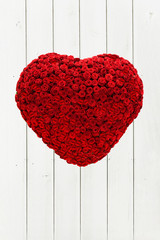Herz aus Rosen, Holzbretter