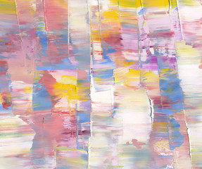Highly-textured colorful abstract painted background. Texture of oil, palette knife. High detail. Can be used for web design, art print, textured fonts, figures, shapes, etc.