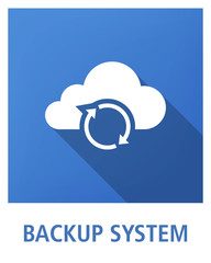 BACKUP SYSTEM ICON CONCEPT