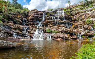 Brazil journay .Waterfall  in  the country side the  state of Minas Gerais , Brazil.  Diamantina / Serro region.