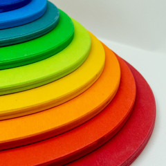kids toy - colorful building blocks - rainbow