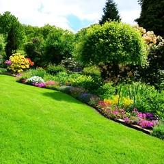 Fotobehang Tuin beautiful garden square
