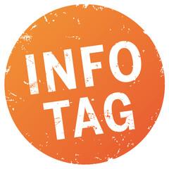 Button Info-Tag orange zerkratzt