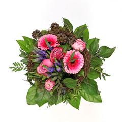 Blumenstrauß mit Rosen und Gerbera