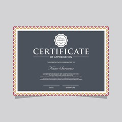 Vintage simple certificate template