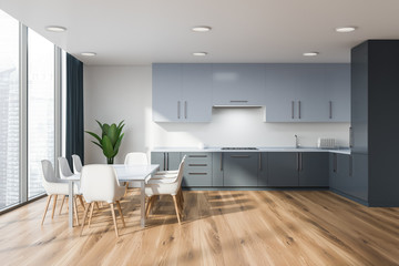 Panoramic kitchen with table