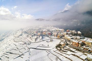 Valtellina (IT) - Sondrio - Frazione Sant'Anna - Convento di san Lorenzo - Vista aerea