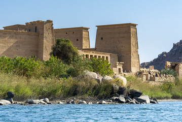 Temple of Isis in Philae island, Aswan, Egypt
